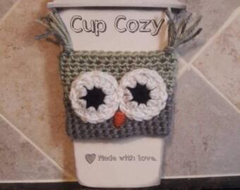 Coffee sleeve, owl, cup sleeve, tea sleeve, owls