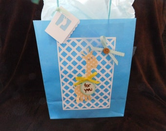 Baby Shower/New Baby Giraffe Gift Bag