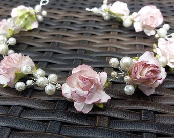 Flower and Pearll Hair Vine/Garland/Accessory Various Lengths  Wedding Prom Party