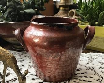 Vintage pottery, Vintage planter, Ceramic Vase