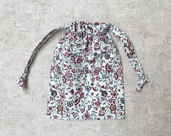 unique smallbag in flowered fabric - cotton bag