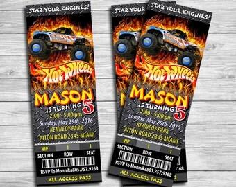 Hot Wheel ticket Invitation, Hot Wheel ticket Birthday Party, Hot Wheel ticket Thank You Card | 1AHO_5