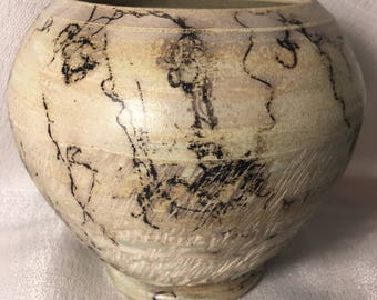 Handthrown NC pottery with horsehair