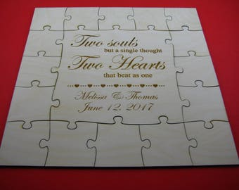 Guest book puzzle, graduation guest book puzzle, wooden, guest book alternative, puzzle guest book, jigsaw guest book, sweet 16 guestbook