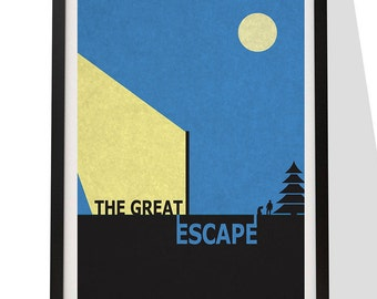 Movie print poster, classic minimalist look. The Great Escape