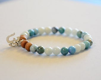 Be Your Best - Amazonite and Hemimorphite Crystal Bracelet