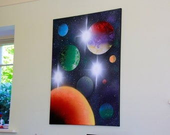 Planetary Wall Art 24x30 in