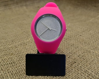Customised pink silicone watches
