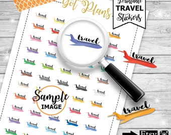 Travel Planner Stickers, Travel Stickers, Printable Aeroplane Stickers, Travel Planning Decor, Airplane Stickers