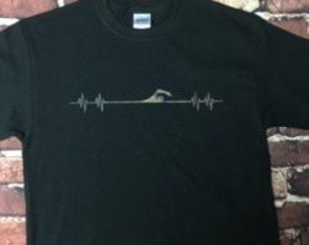 Swimmer Heartbeat Shirt