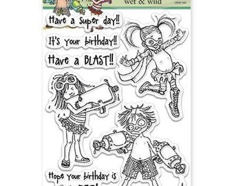 Penny Black Wet and Wild Acrylic Stamp