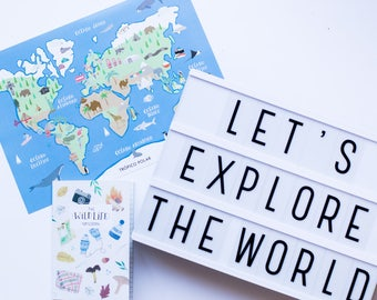 Illustrated world map - illustrated world map