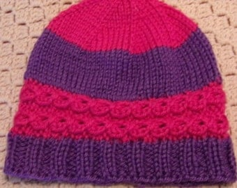 Lace Cable Hat