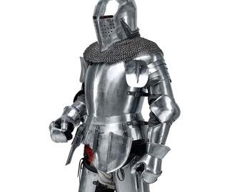 Medieval Knight's Armor Set SCA LARP steel armor fantasy armor steel protection battle armor historical armor full armor medieval armor LARP