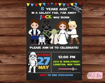 Star Wars Invitation - Star Wars Birthday Invitation - Star Wars Party invitation -  Star Wars Birthday Invite.
