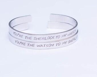 You're The Sherlock To My Watson / You're The Watson To My Sherlock / Sherlock Friendship Bracelet Set / Sherlock Gift Set / Sherlock Holmes