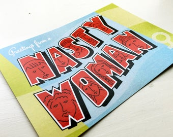 Nasty Woman Postcard 10-pack