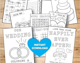 Kids Wedding Coloring Activity Book