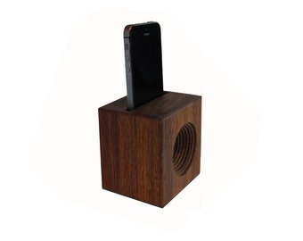 Phone AMP a hand made all wooden speaker for your cell phone Perfect for camping, picnics, any place you want volume but have no electricity
