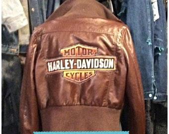 Homemade Harley Davidson leather jacket