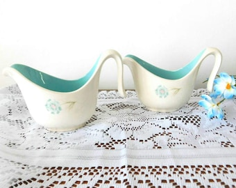 Taylor Smith Taylor vintage  1950s Forever Yours BOUTONNIERE pattern two dressing or gravy boats