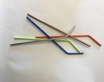 Straw, powder coated straw, stainless steel straw, angled straw, straight straw
