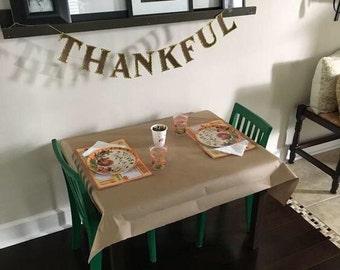 Thankful Banner, Thanksgiving Banner, Fall Decor