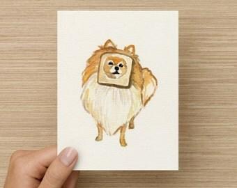 Bread Dog Meme Card