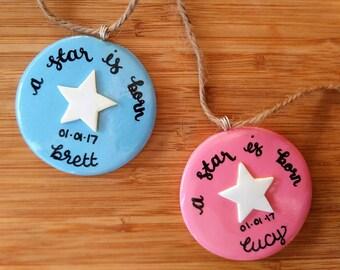 Custom 'A Star is Born' Hanging Ornament