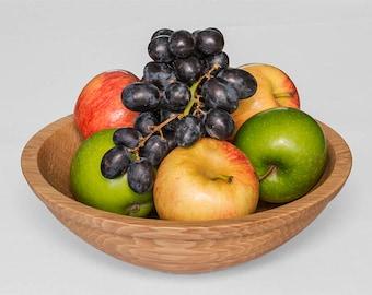 Handmade English Hornbeam Wood 9 inch Fruit Bowl