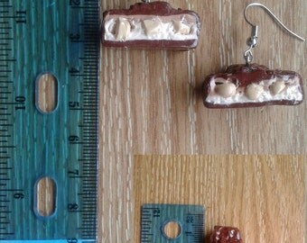 Polymer Clay Candy Bar Earrings