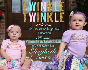 Twinkle Twinkle Thank You Card