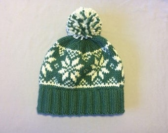 Hand knit nordic hat Etsy