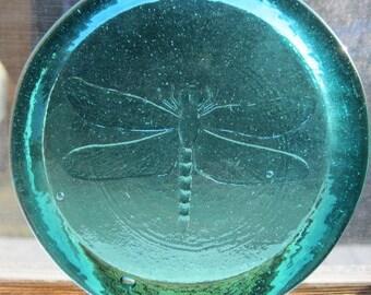 Cape Cod Dragonfly Suncatcher Ornament Pressed Glass