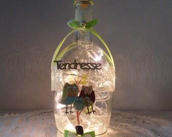 bottle OWL lamp