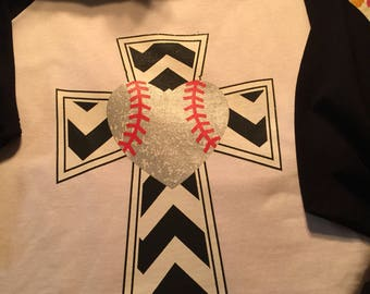 Baseball cross shirt