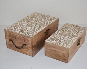large jewelry box jewelry box wooden jewelry box hand made jewelry box - Wood Jewelry Box