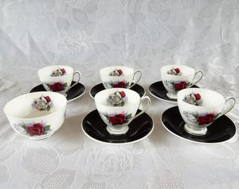 Queen Anne Demitasse with Roses