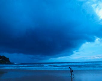 End of the days, Thailand, Phuket, beach, storm, clouds, photo, imprimable, décoration, poster, print,
