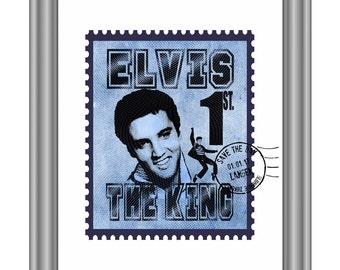 Elvis postage stamp 'Hall of Fame'