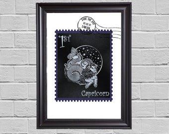 Capricorn Zodiac - stamps