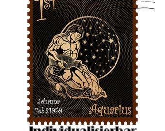 Individualized Zodiac - stamps