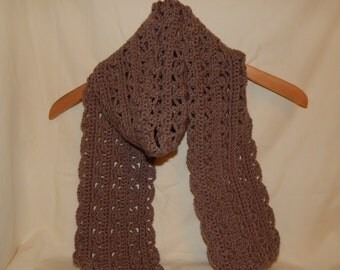 Tan Crocheted Scarf