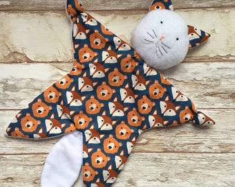 Doudou comfort toy Cat pattern foxes and bears
