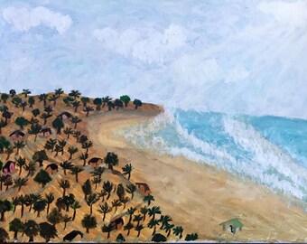 Oil Painting - Sea shore