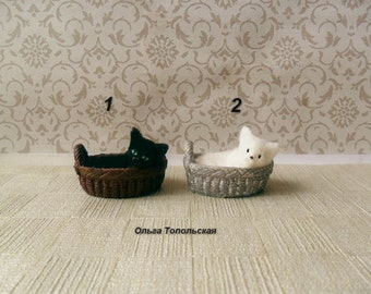 Сat miniature - Сat - Kitten. Miniature animal.  Realistic cat for your Dollhouse Scale 1:12