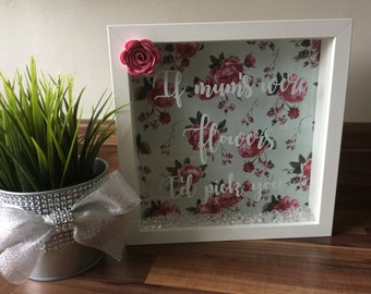 Mother's Day Shadow Box Frame Gift.