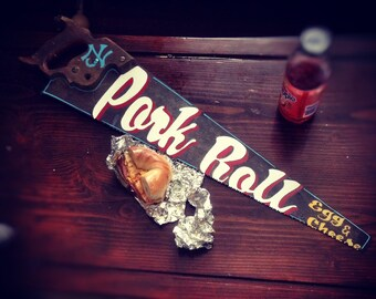 "Hand Painted Saw ""pork roll"""