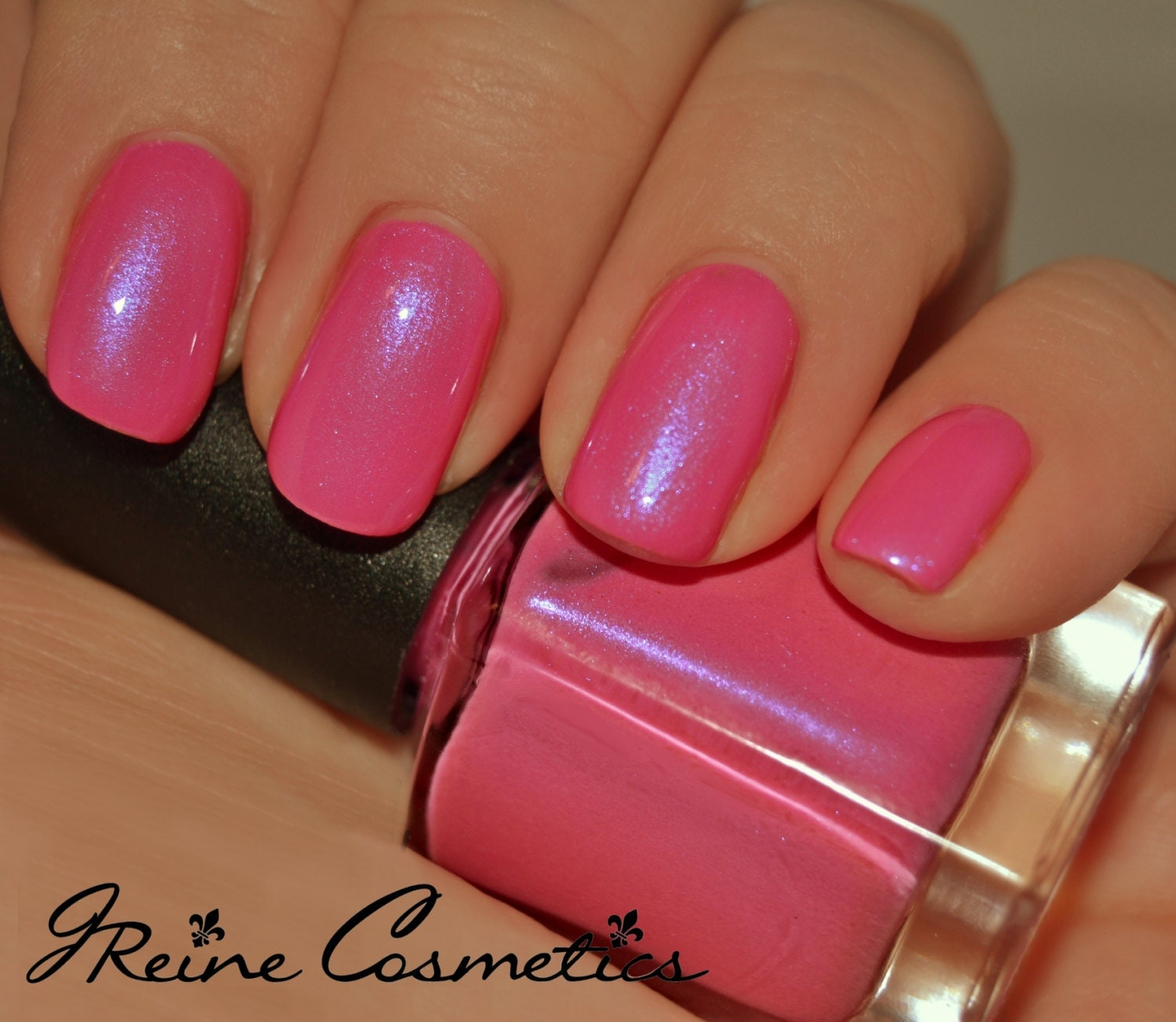 Cotton Candy Nail Color: Pink With Blue Shimmer Nail Polish From