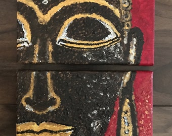 2 pieces buddha face